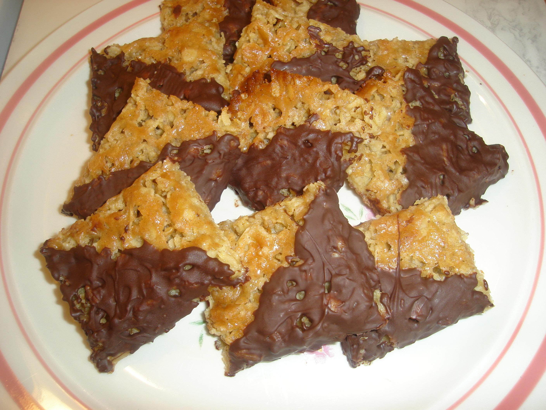 Havrebitar med choklad
