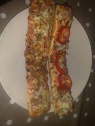 pizza köttfärs bacon