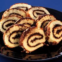Rulltårta med chokladfyllning