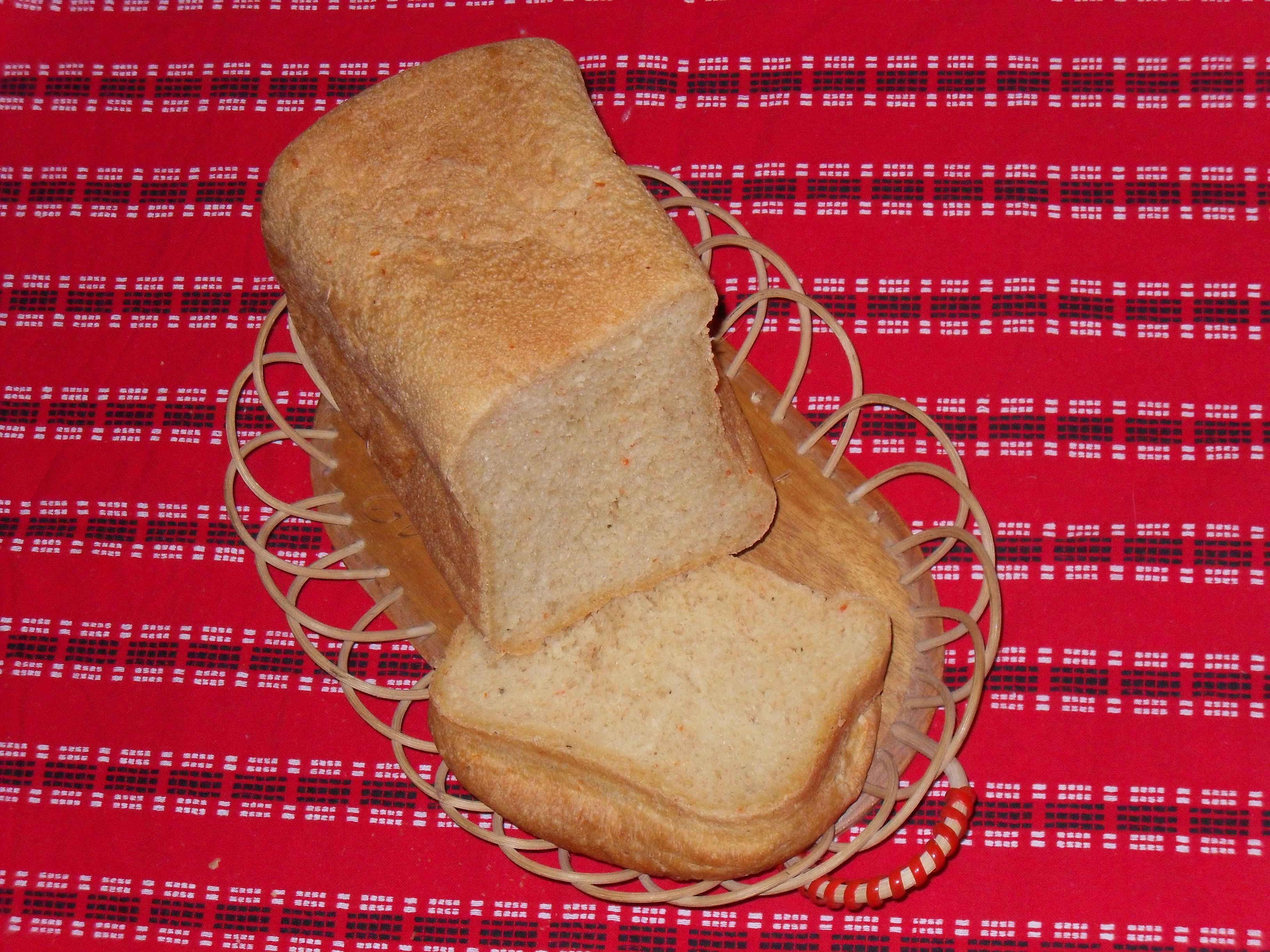 Paprikabröd för bakmaskin