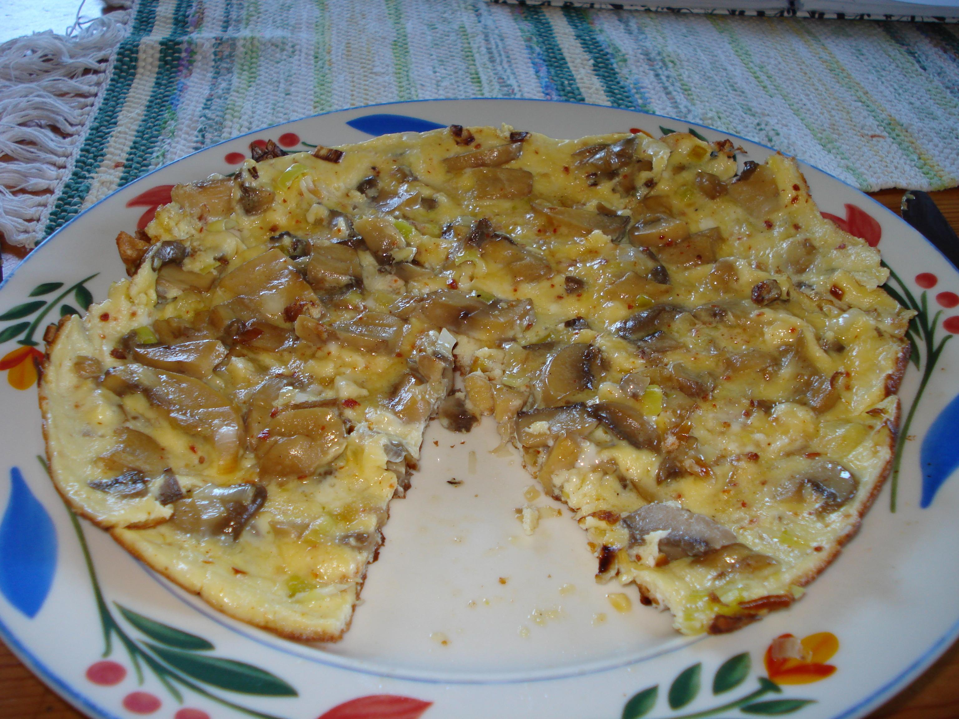 svamp omelett