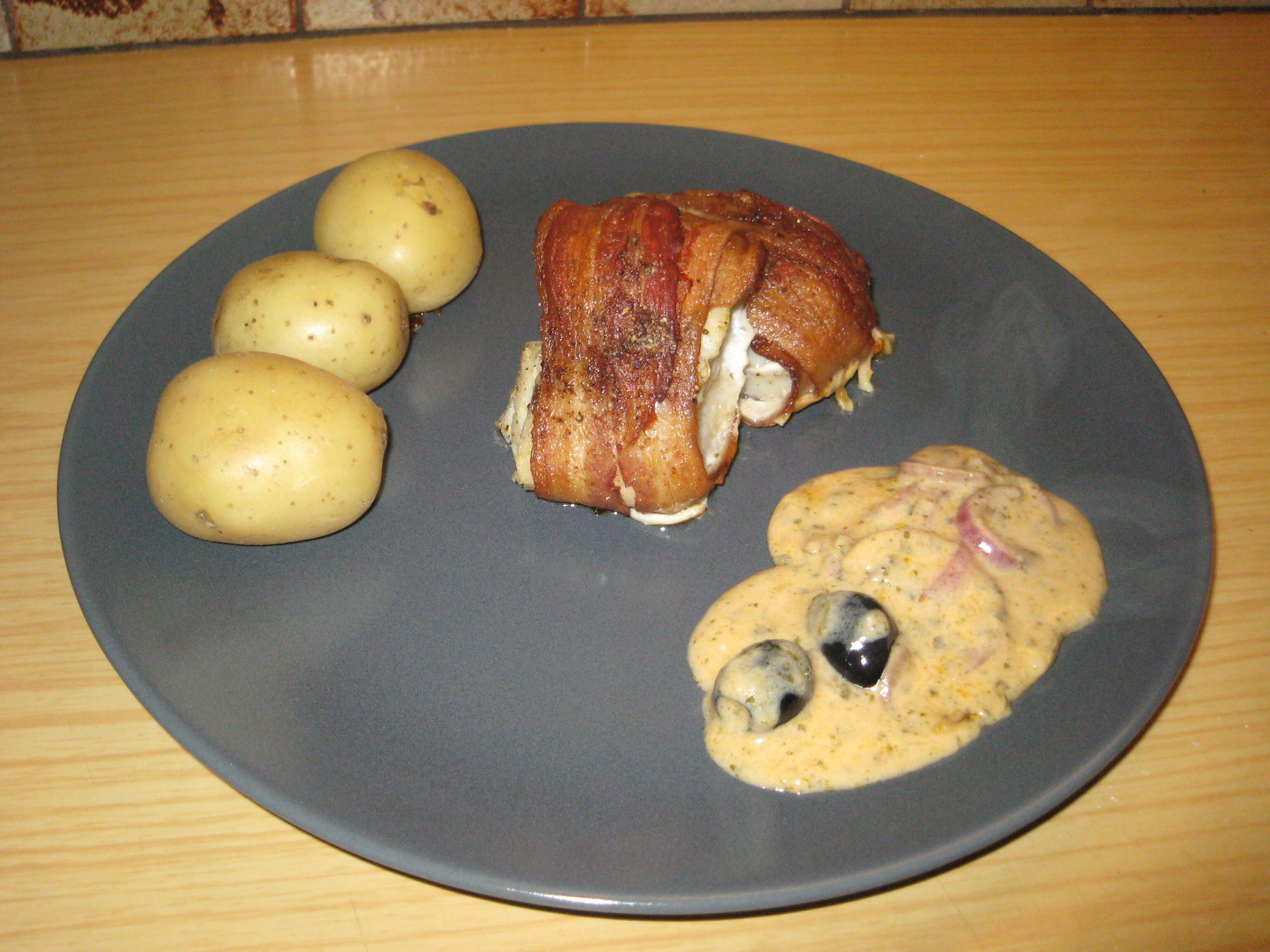 torsk i ugn med bacon