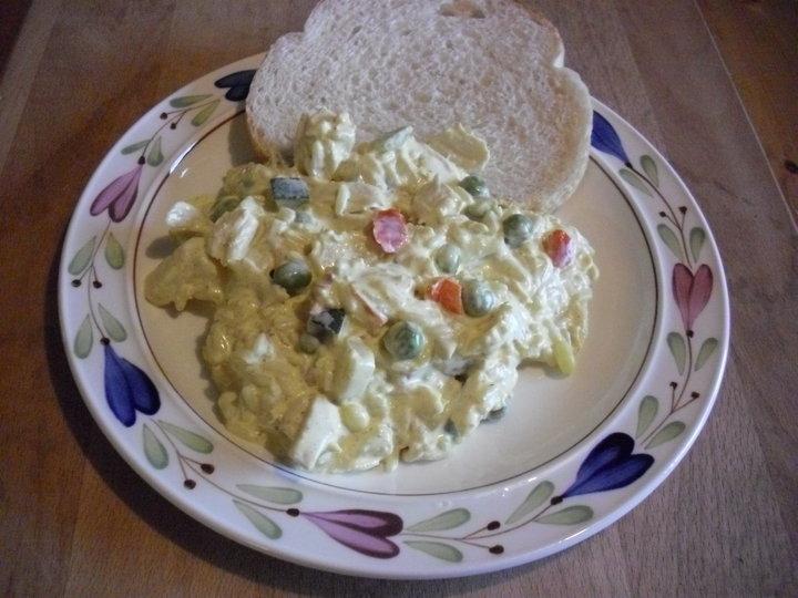 Kycklingröra med ananas och curry