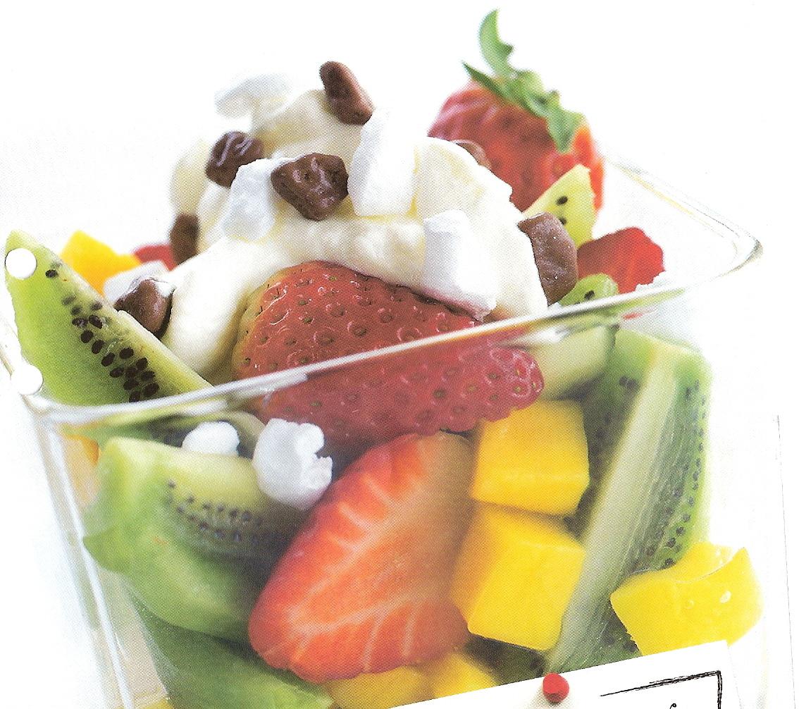 Fruktsallad med..