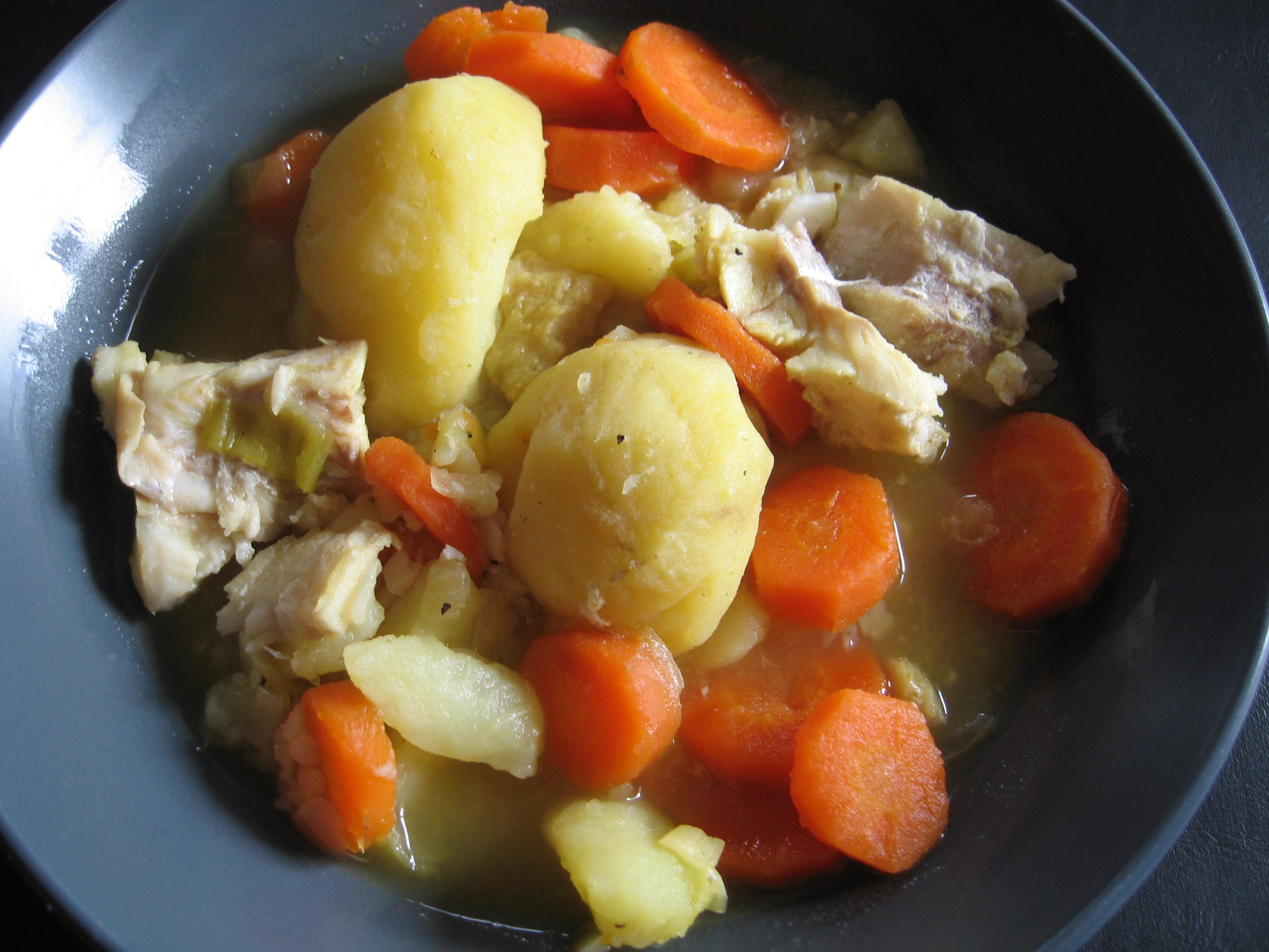 Torsk- och potatisgryta