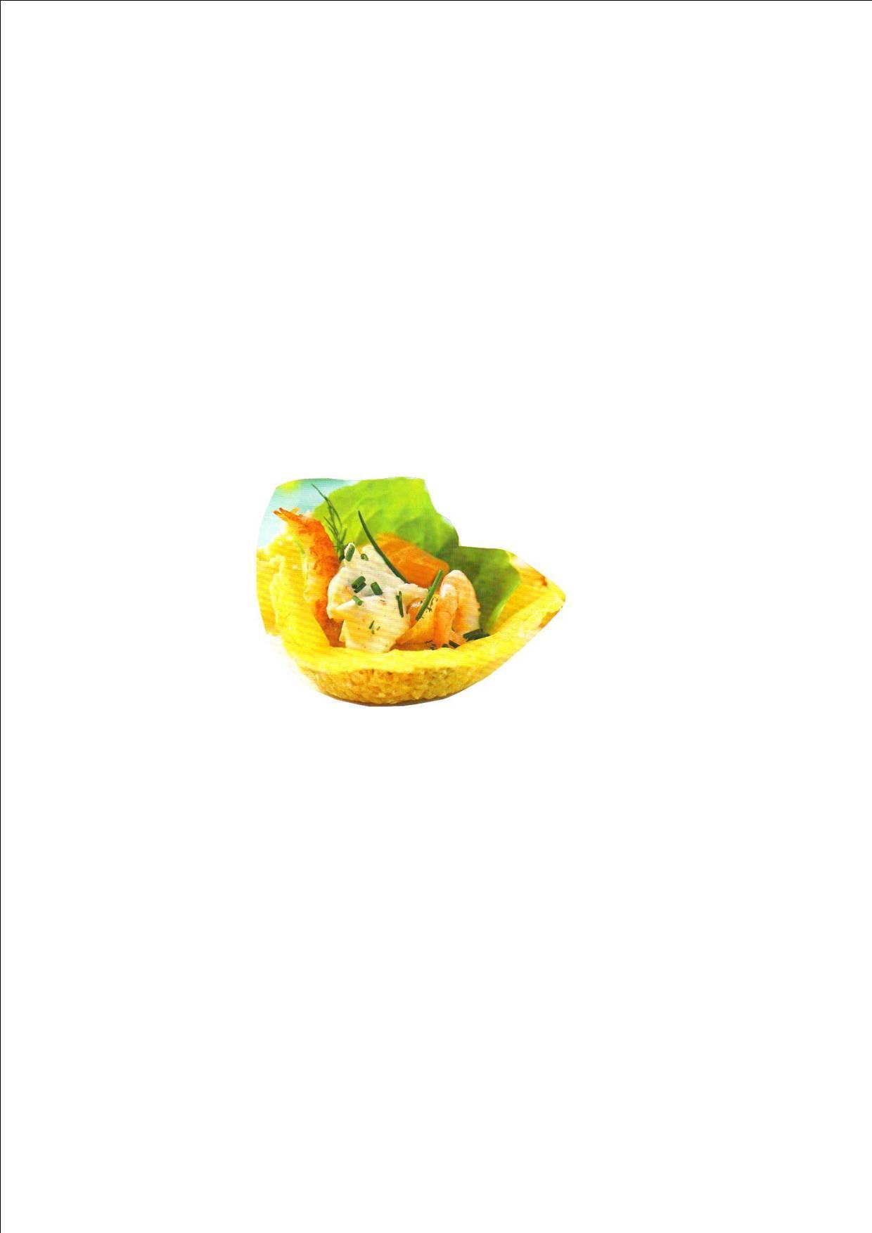 Pemesansnäcka med räkor, lax & skaldjursaröra