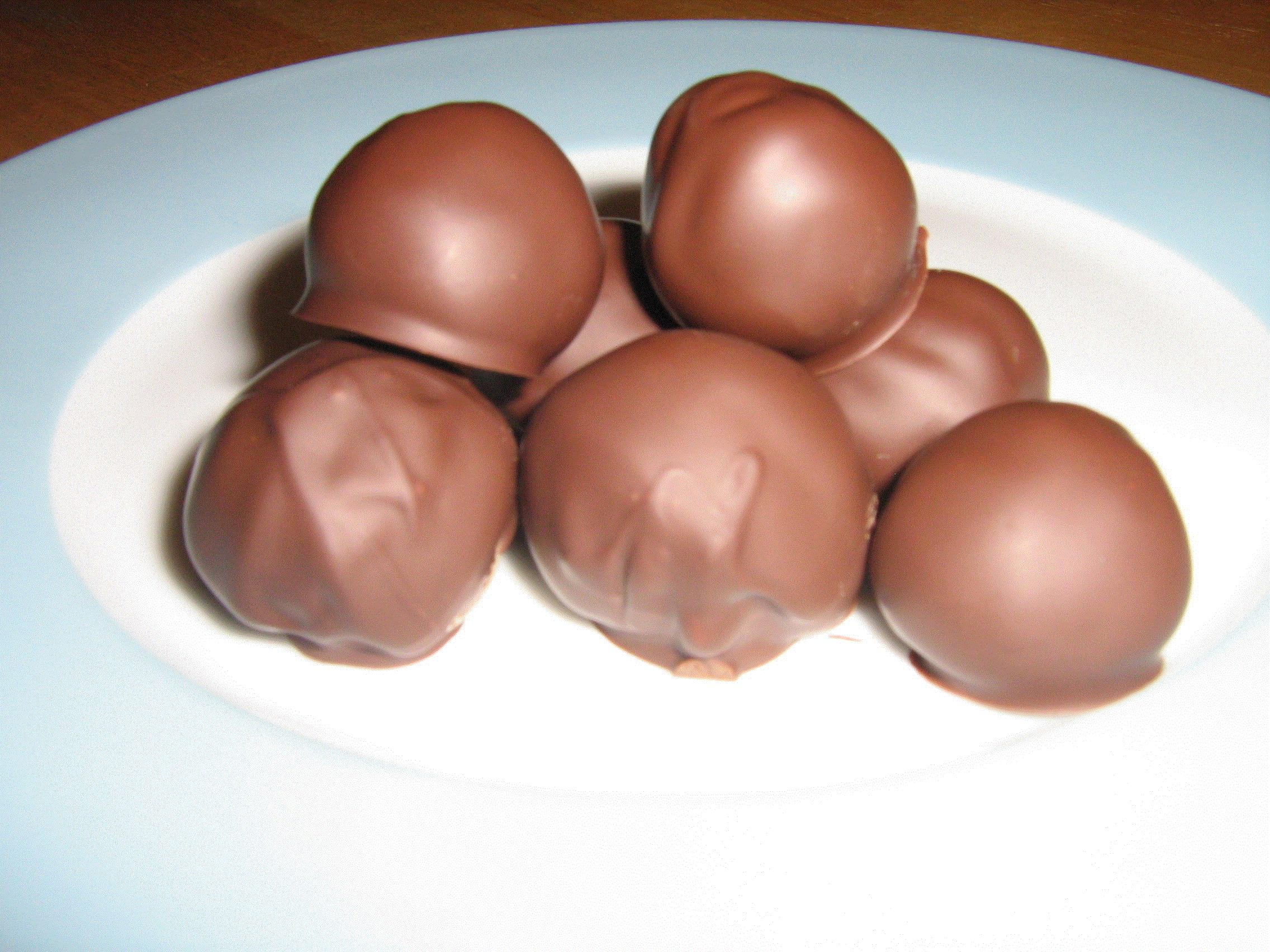 choklad nougat bollar