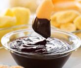 chokladfondue med exotisk frukt