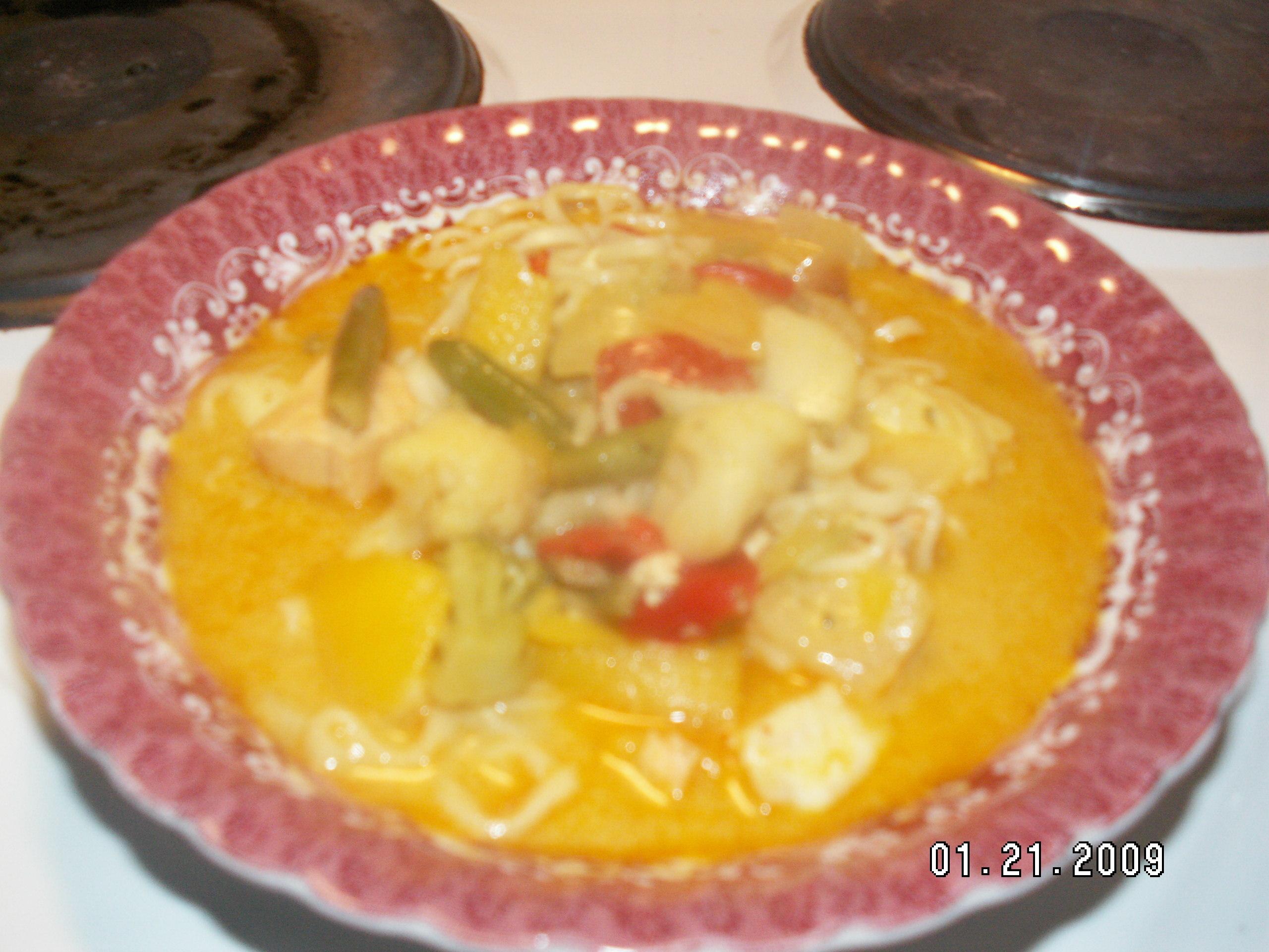 fisksoppa wokgrönsaker