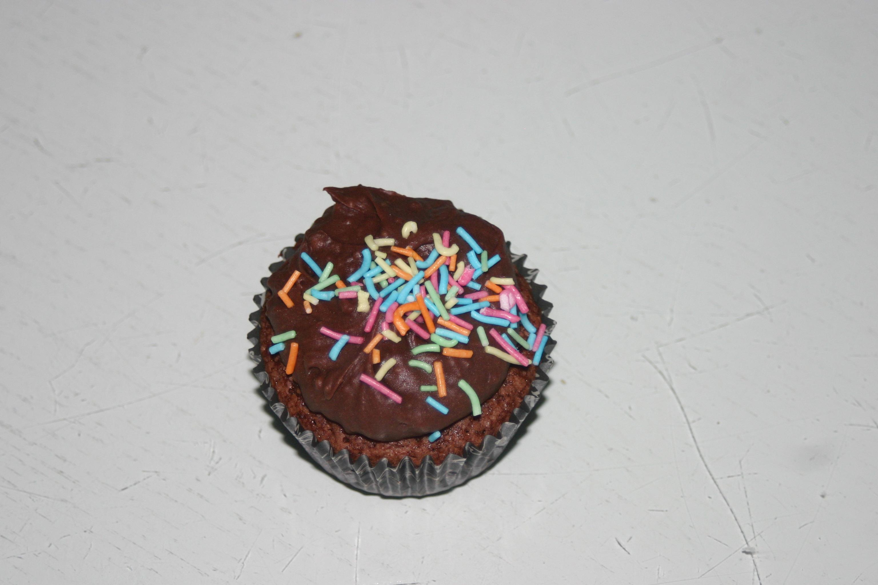 Söta små chokladcupcakes