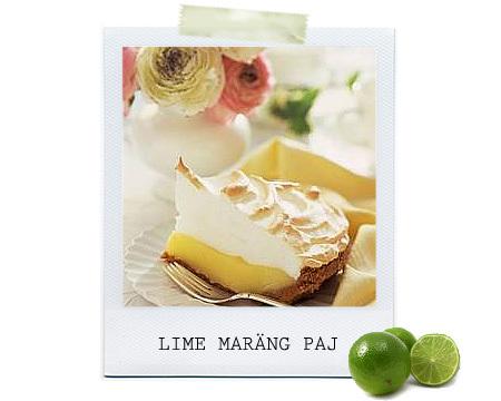 Lime-och kokospaj med maräng