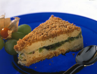 cheesecake philadelphia digestive kiwi