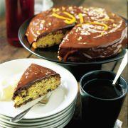 chokladglaserad kaka