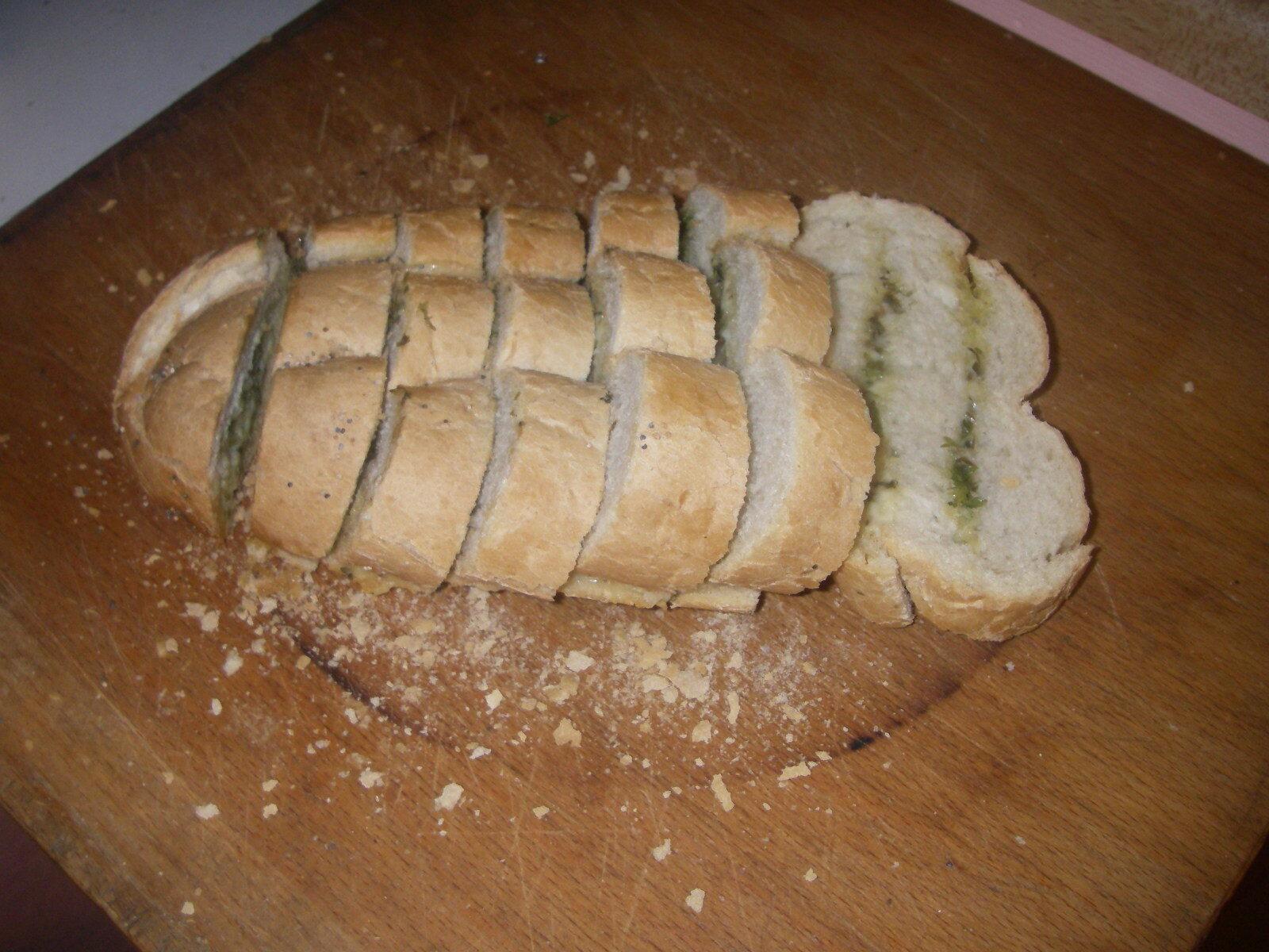 örtbröd med vitlök