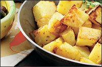 vitlöksrostad potatis