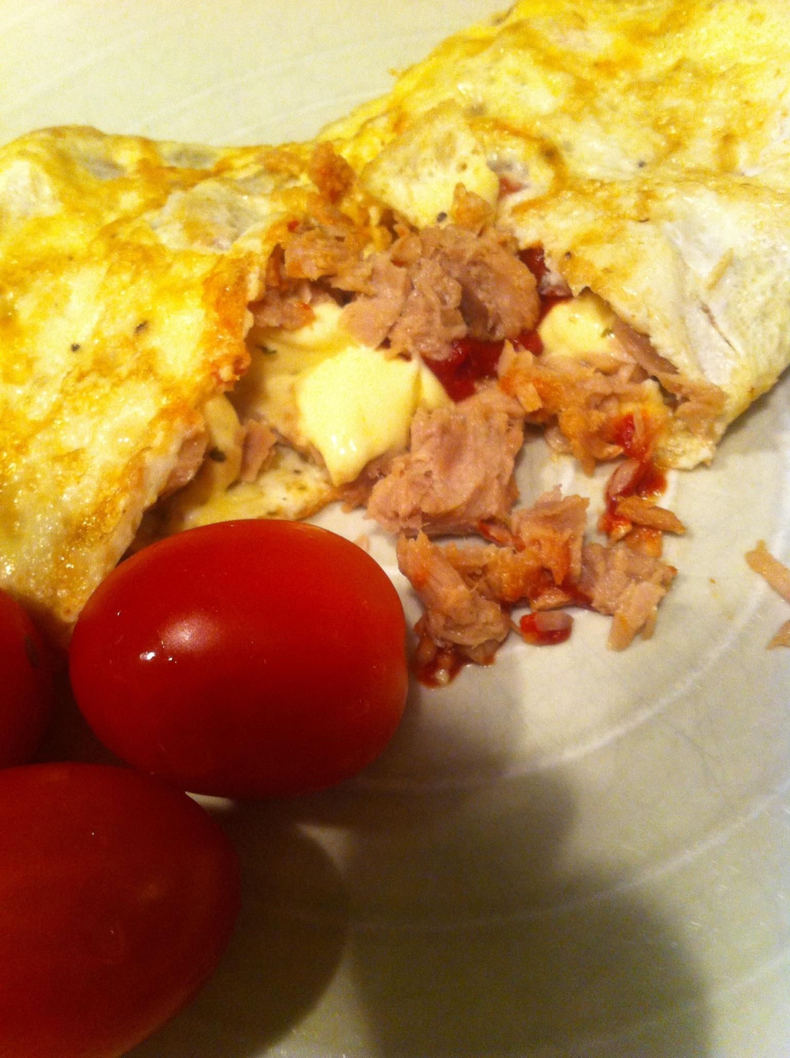 Omelett med tonfisk