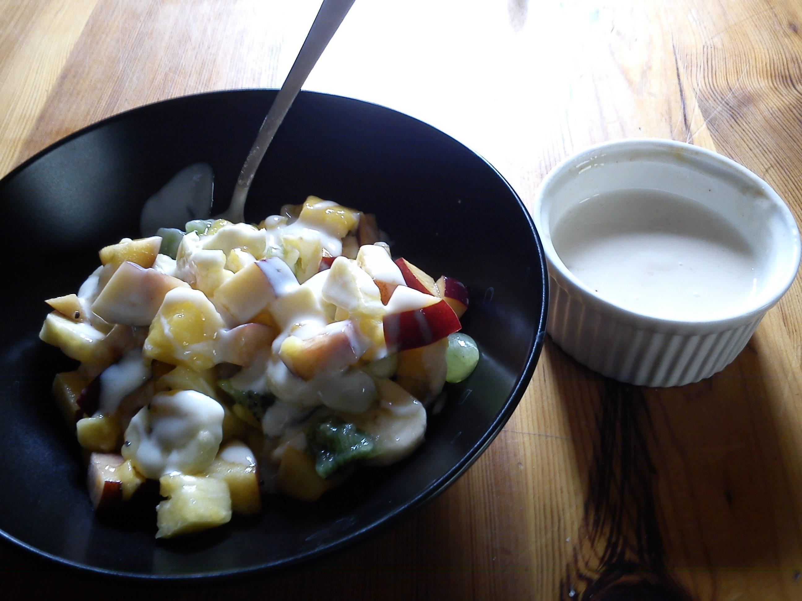 creme fraiche sås till fruktsallad fruktsallad