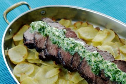 oxfilé råstekt potatis