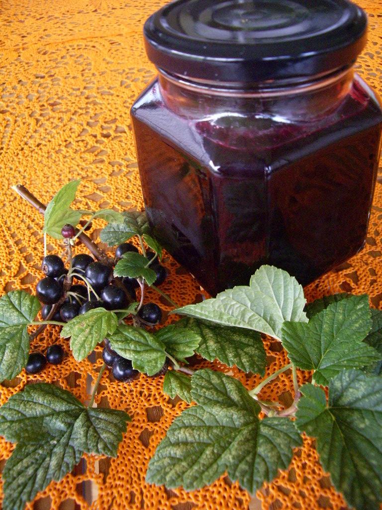Svartvinbärssylt med vanilj