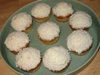 Kokosmuffins med Cream Cheese-glasyr