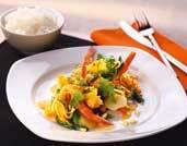 Orientalisk wok med scampi