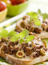 Varm köttfärsmacka med tacosmak