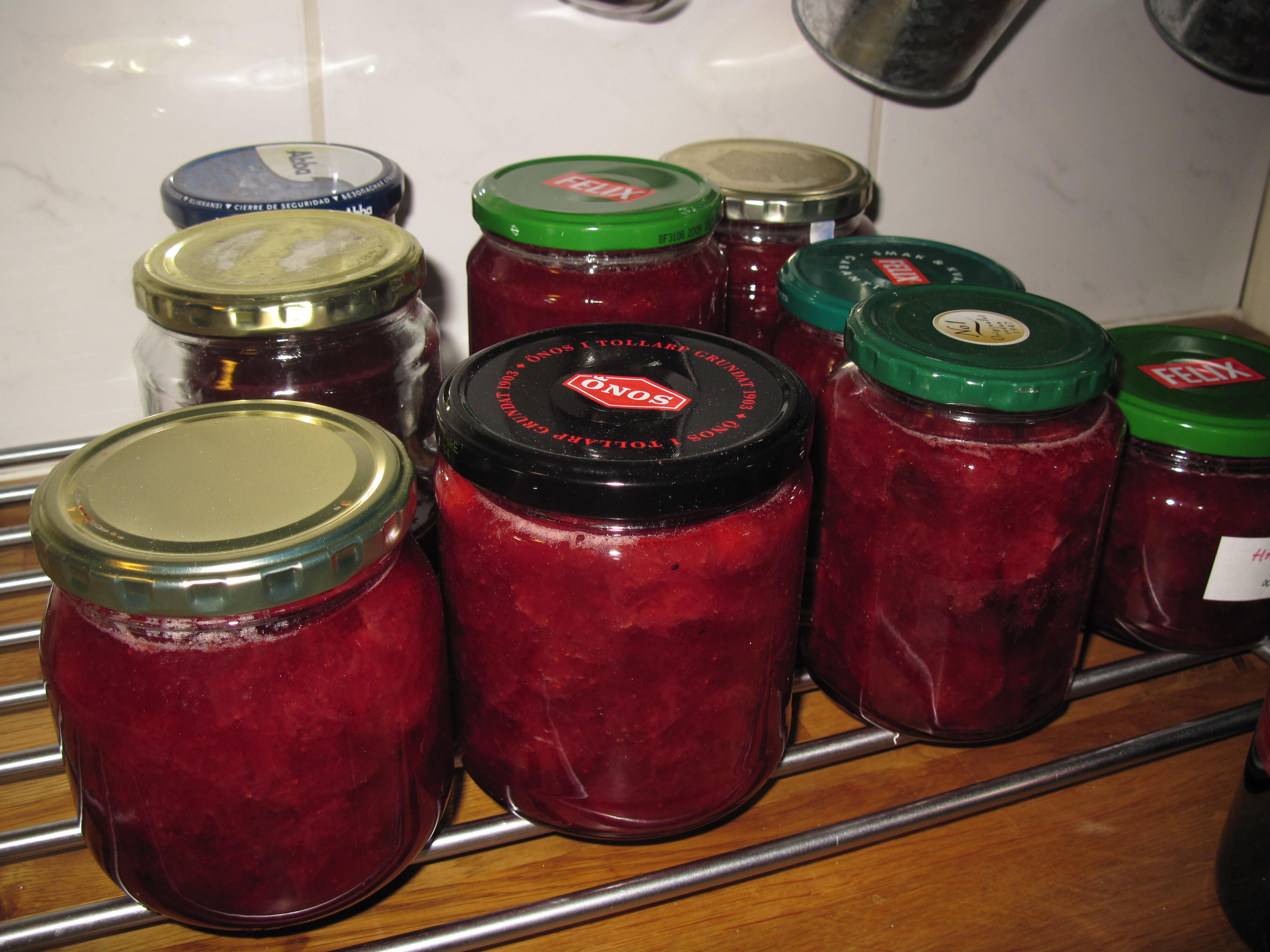jordgubbssylt mindre socker