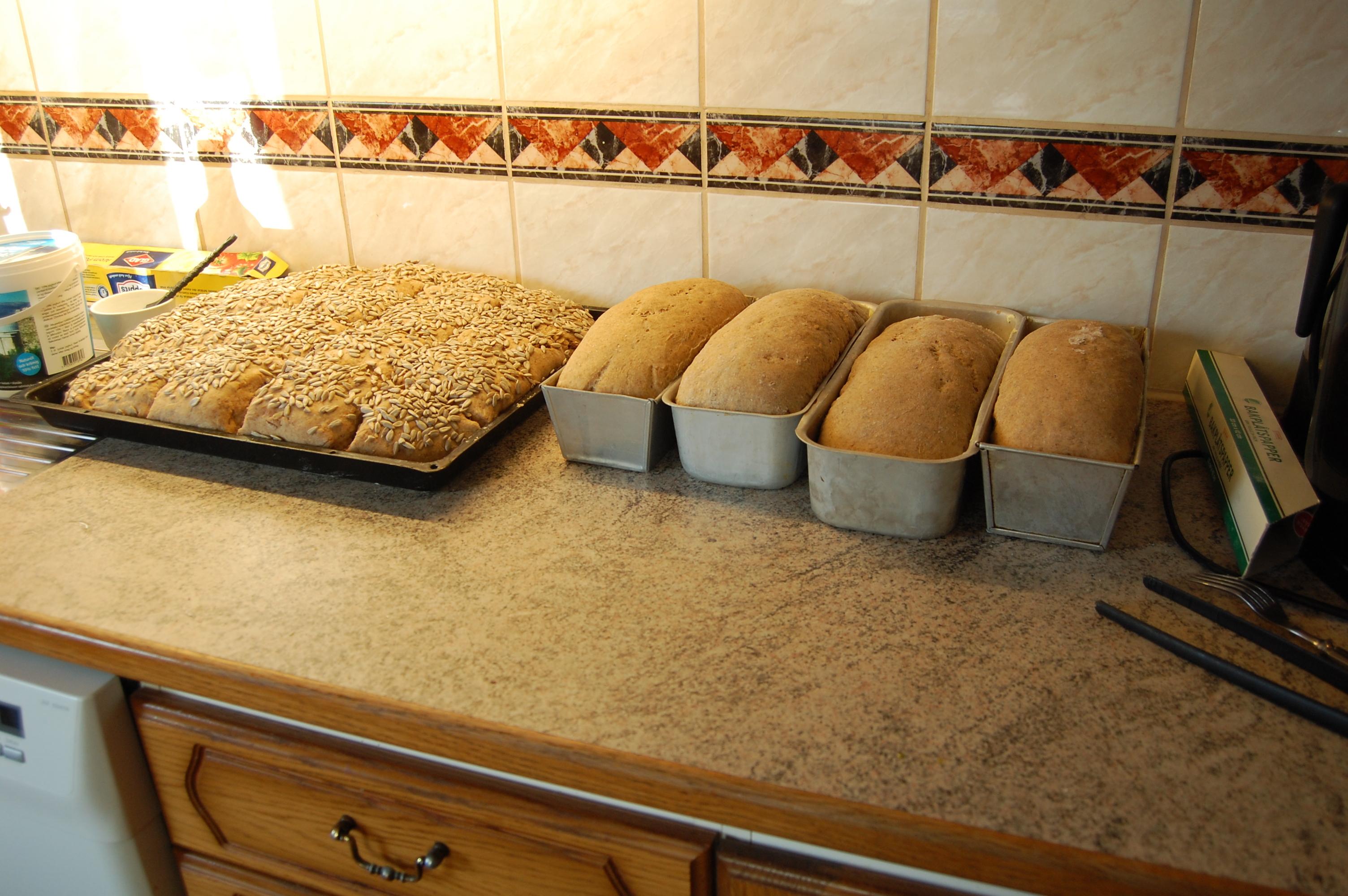 baka grovt bröd med musli