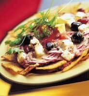 Tortillachipstallrik med bönor