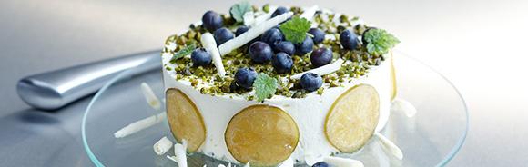 glasstårta med marsipan