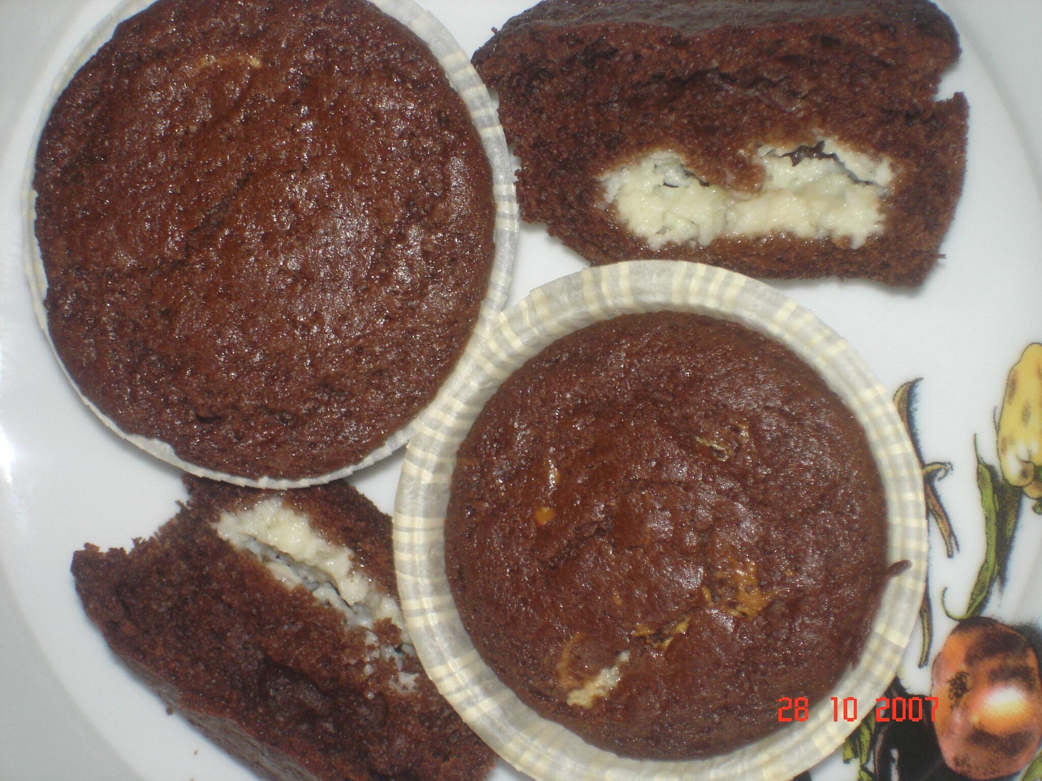 Muffins med saffransfyllning