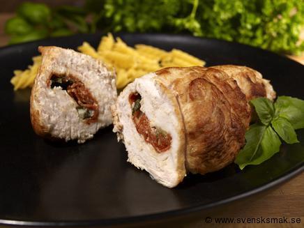 Ost- och salamifyllda kycklingfiléer