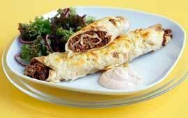 enchiladas med creme fraiche paprika chili