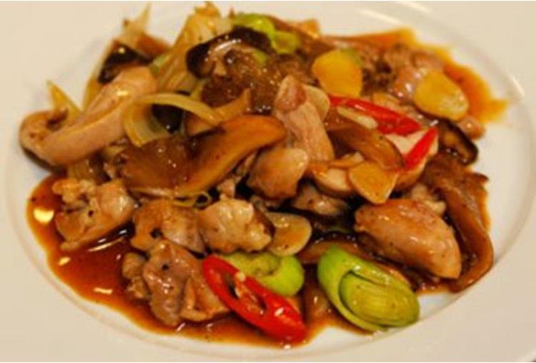 Kinesisk kyckling - med svamp chili och citron