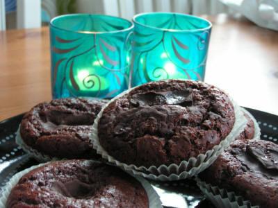 chokladmuffins utan kakao