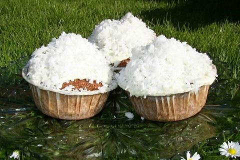 kokosmuffins med choklad