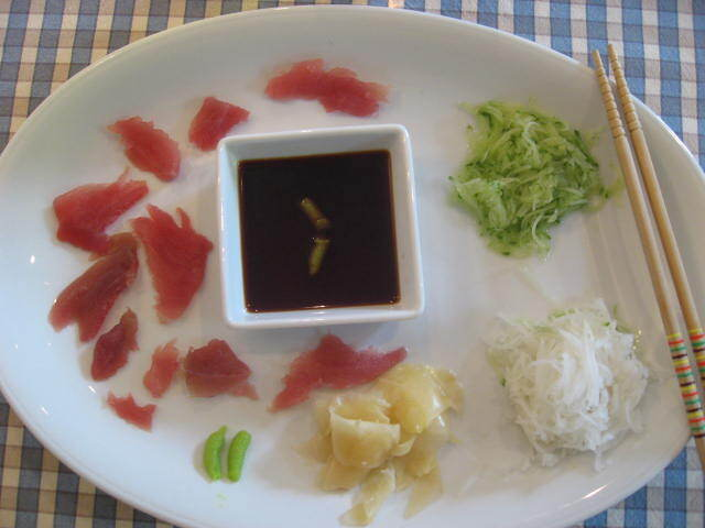 inlagd rättika sushi