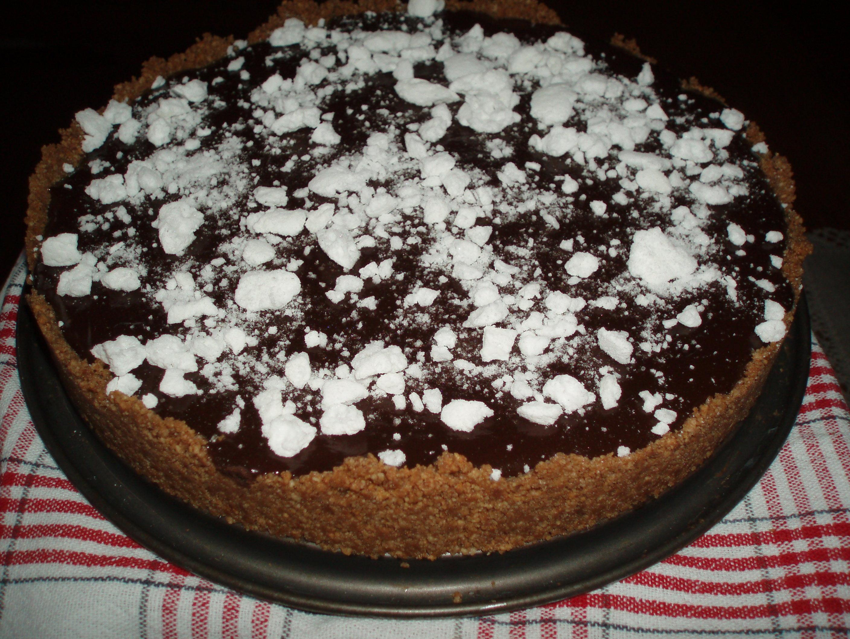 Chokladkolatårta med julsnö