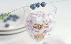 Blåbärscheesecake i glas