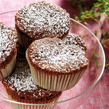 Chokladmuffins med mjuk nougat