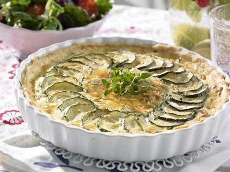 Svamp- och zucchinipaj