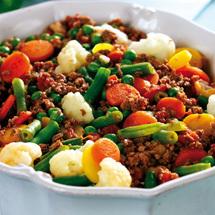 Färsgryta med grönsaker