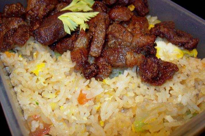 Steka ris med thai fläsk