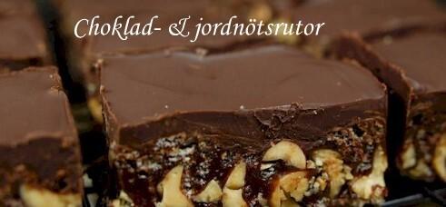 Choklad- & jordnötsrutor