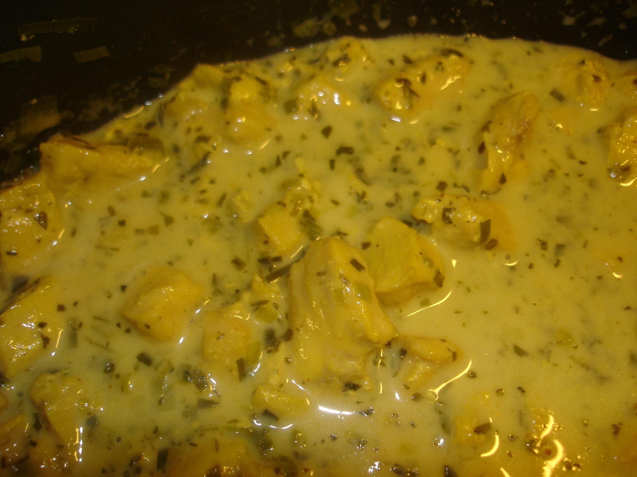 Currykyckling i