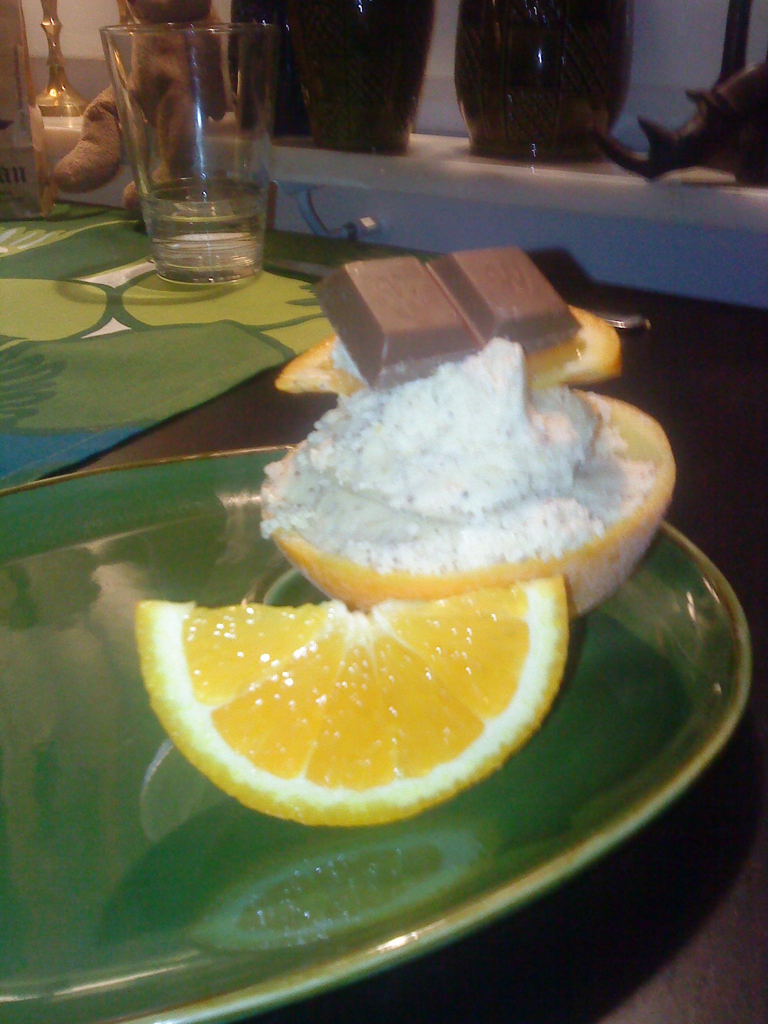 apelsinglass i glassmaskin