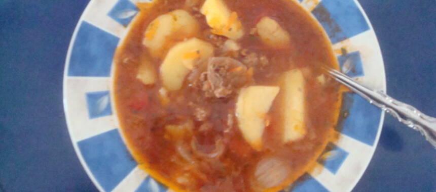 köttfärssoppa utan krossade tomater