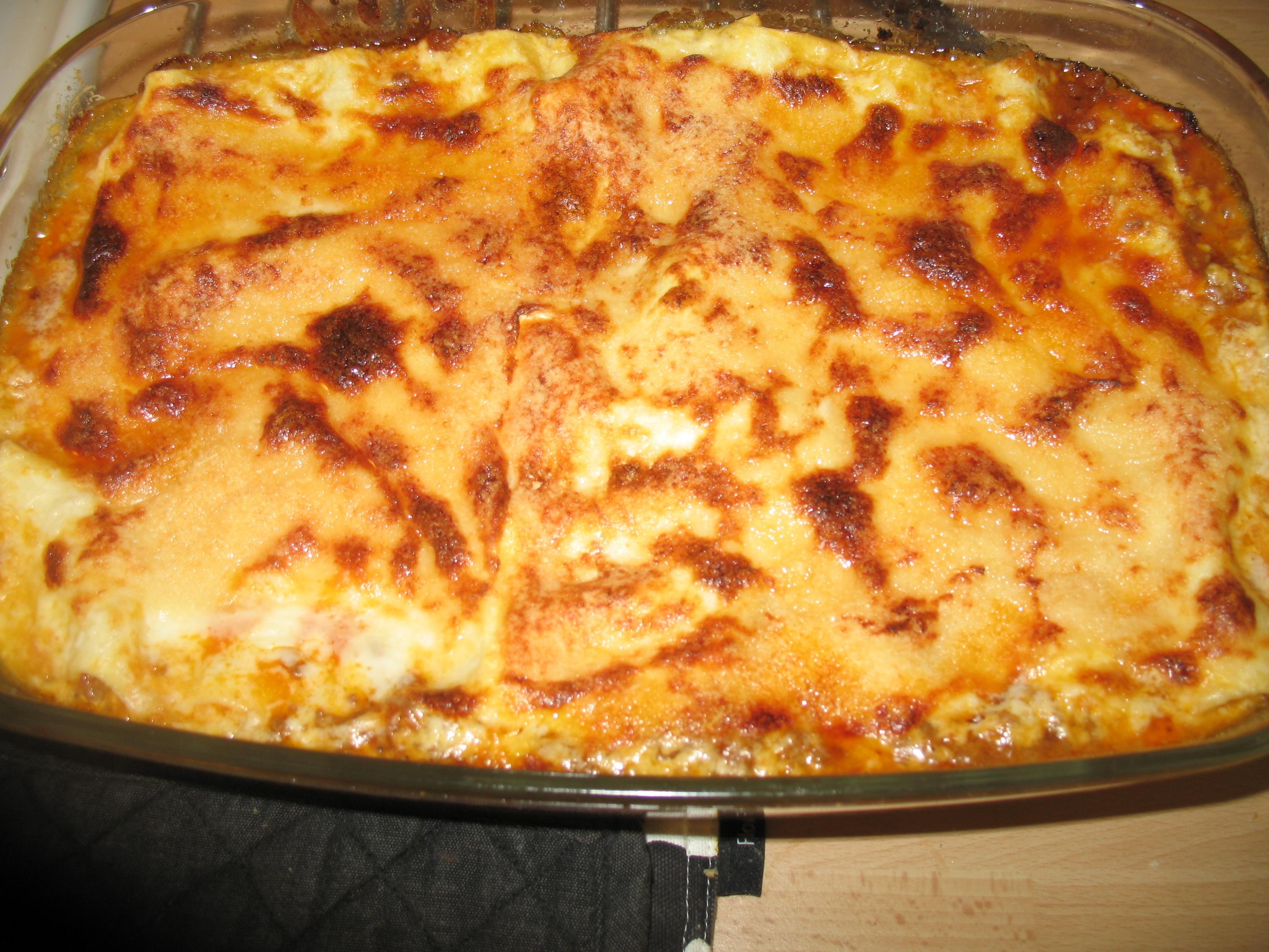älgfärs lasagne