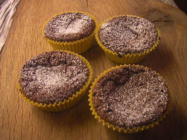 Chokladkratrar (chokladmuffins)