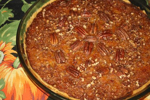 Pumpapaj med pekannötter